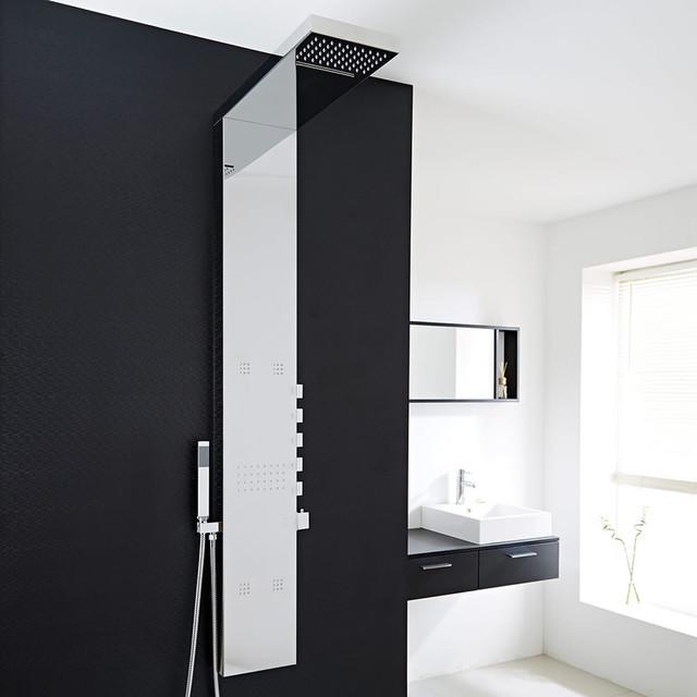 Colonne de douche thermostatique tahuata moderne colonne de douche et com - Colonne de douche moderne ...