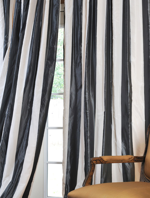 Horizontal Striped Silk Curtains - Best Curtains 2017