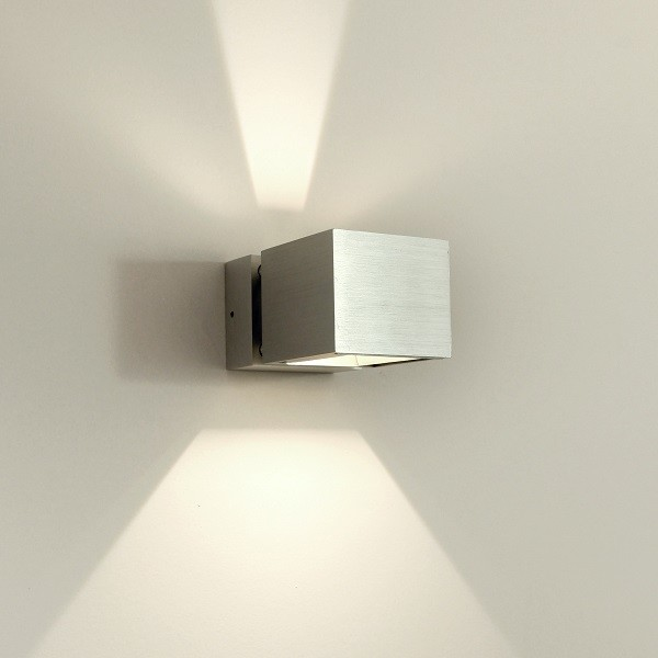 Asteria modern led up and down aluminium exterior wall for Exterior up and down lights led
