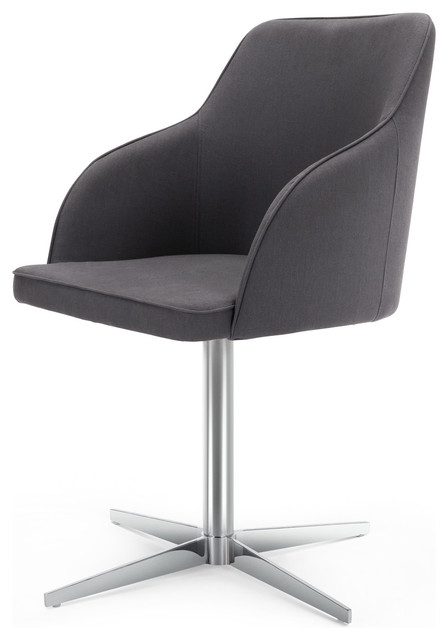 Keira Office Chair Lead Grey Modern Office Chairs By MADE COM
