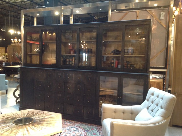 industrial cabinet cornerstone home interiors eclectic