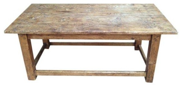 French Antique Pine Coffee Table Modern Coffee Tables By Chairish