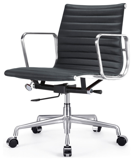 office chair black italian leather contemporary office chairs