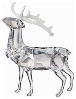 Swarovski christmas stag traditional holiday accents - Swarovski stag figurine ...