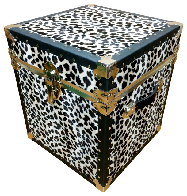 End Table - Leopard Animal Skin - Eclectic - Side Tables ...