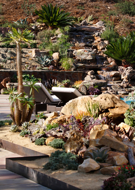 Landscaping Backyard Hill : Landscape architects designers