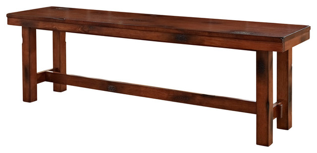 dark oak wood bench transitional dining benches by walker edison