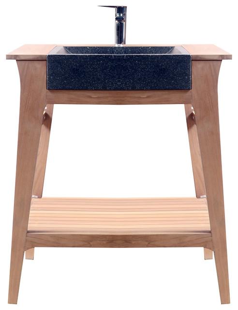 meuble avec vasque en bois de teck 70 mya campagne console et meuble sous lavabo par tikamoon. Black Bedroom Furniture Sets. Home Design Ideas