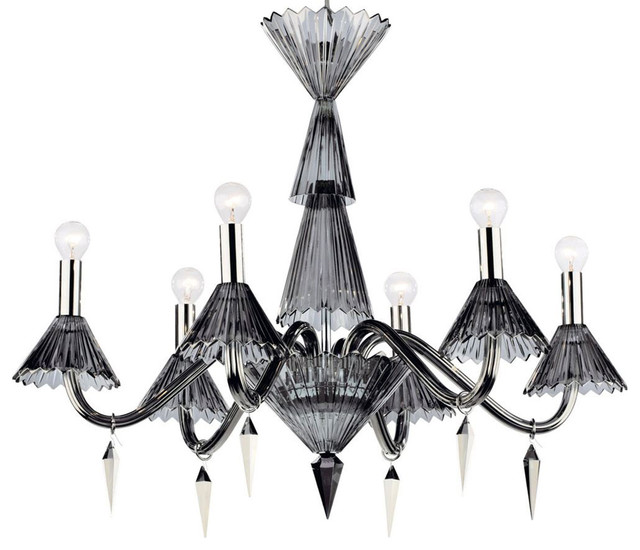 Siena Black Crystal Chandelier - Lampadari - di Inviting ...