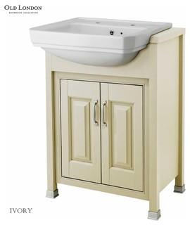 old london bathroom unit with basin ivory