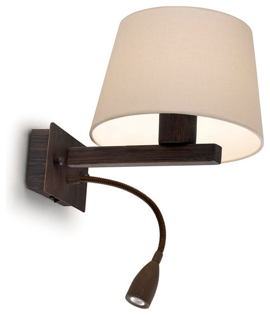 Wall Sconces With Reading Light : Torino Wall Sconce with Reading Light - Modern - Wall Sconces - by Lightology