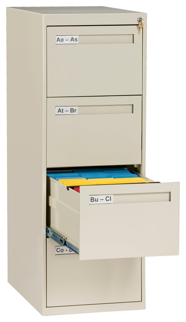 4-Drawer Legal Size Vertical File Cabinet - Contemporary - Filing Cabinets - by Tennsco Corp