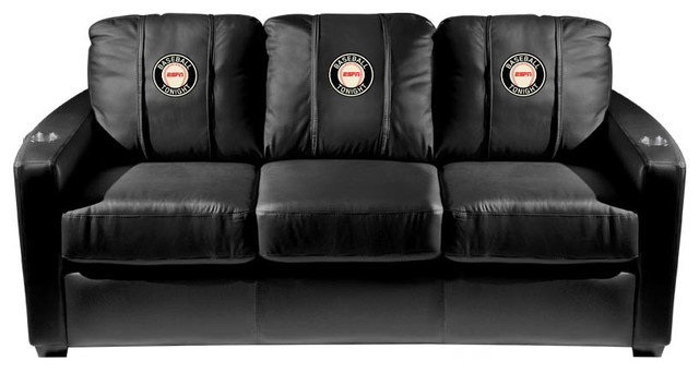 Espn silver sofa with logo panel espn baseball Baseball sofa