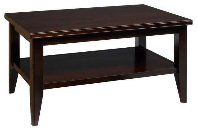 Tribeca Condo Cocktail Table W Shelf Coffee Transitional Coffee Tables