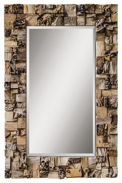 Large rustic wall mirror