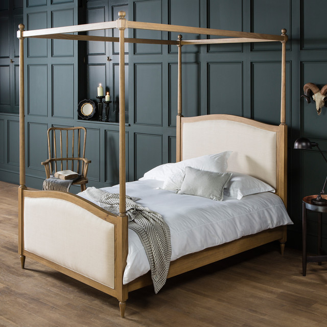 Frank hudson hartwick weathered king size four poster bed for Four poster headboards