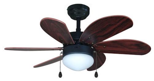 """Oil Rubbed Bronze 30"""" Ceiling Fan w Light Kit"""