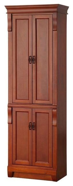 Naples 24 linen cabinet in warm cinnamon contemporary for Bathroom cabinets naples fl