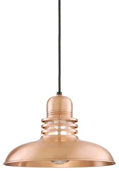 THE MERCURY CORD HUNG COPPER & BRASS CEILING LIGHT Farmhouse Flush mo