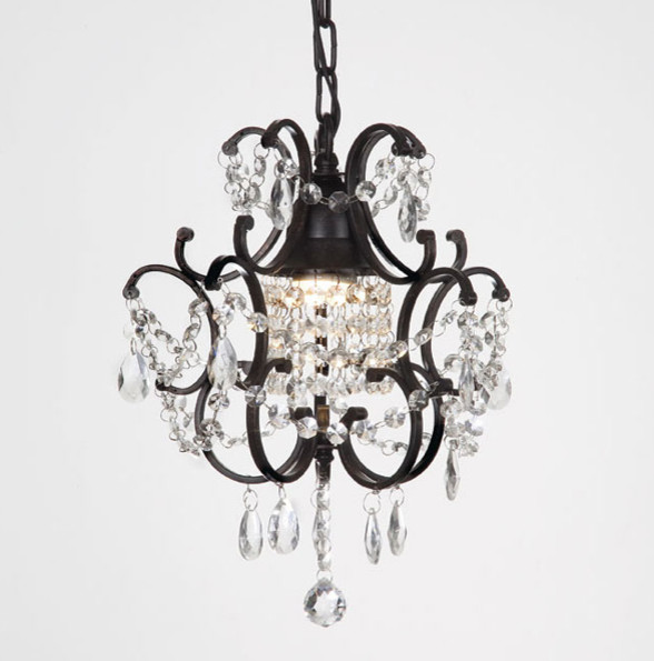 Versailles One Light Black Crystal Mini Chandelier Traditional Chandeliers By Overstock Com
