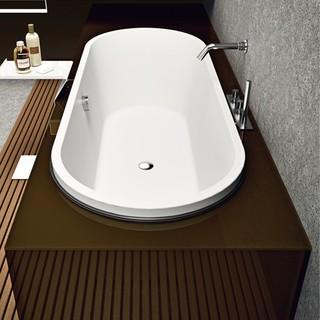 Makro Street Glass Freestanding Bathtub - Modern - Bathtubs