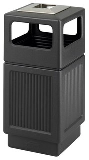 Canmeleon Ash Urn Recessed Panel Receptacle In Black