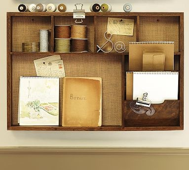 Rustic Home Office Wall Organizer Activity Center