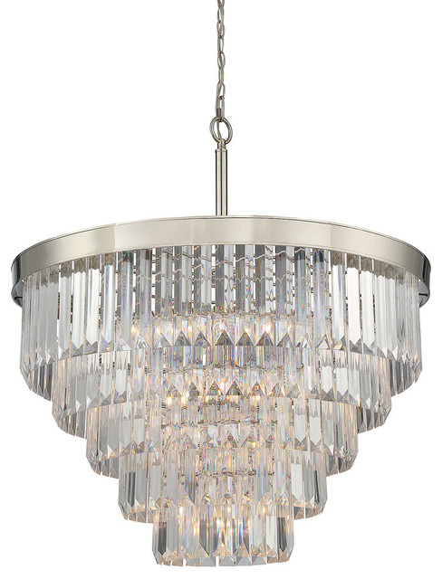 Savoy House Tierney Nine Light Chandelier Contemporary Chandeliers By Lamps Expo