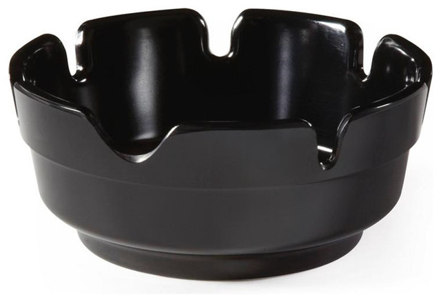 4 inch Ashtray/Cigar Tray Black Melamine/Case of 24 - Contemporary - Serving Trays - by OMPBS