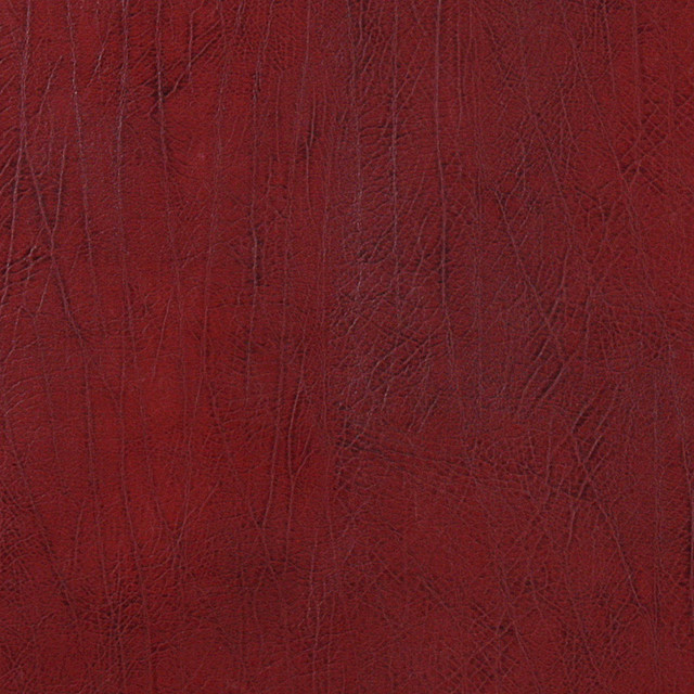 Dark red upholstery recycled leather by the yard for Red leather fabric