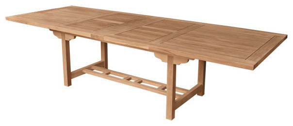 Double rectangular extension table with extra thick wood for Extra long farmhouse table