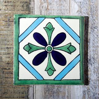 Mexican Handmade Tile Anturio - Mediterranean - Decorative ...