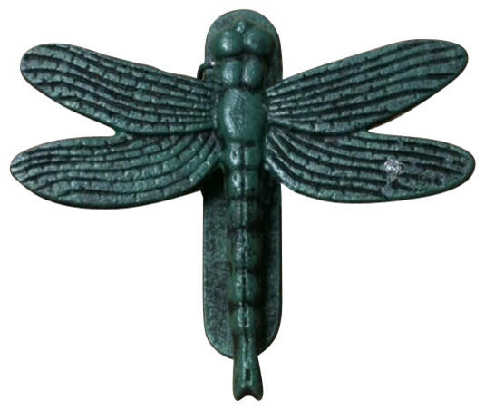 Dragonfly door knocker teal cast iron rustic door knockers by amb furniture design - Dragonfly door knocker ...