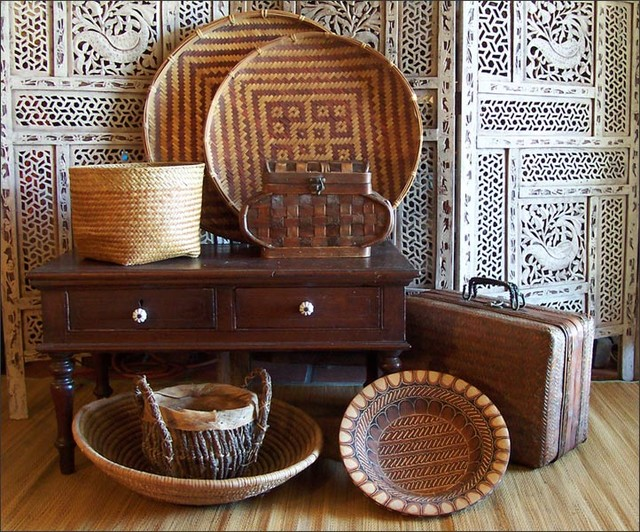 Ethnic Eclectic Woven Baskets Eclectic Home Decor