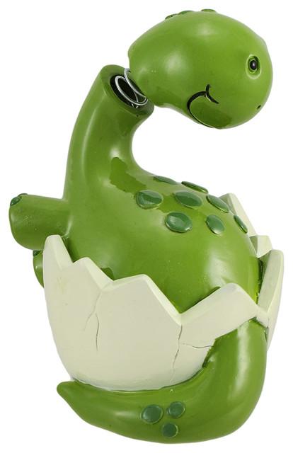 Hatching baby brontosaurus dinosaur bobble head coin bank - Dinosaur piggy banks ...