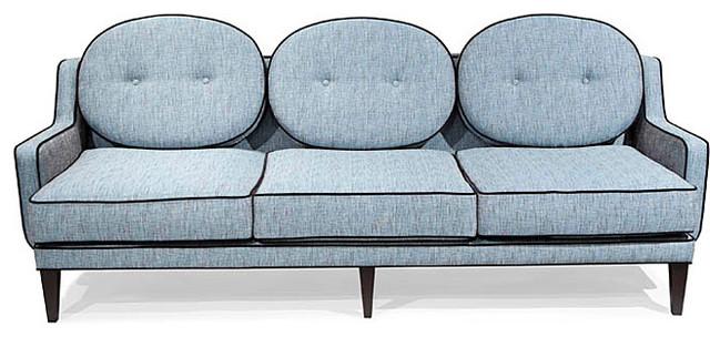 retro blue lagoon fabric sofa modern sofas by