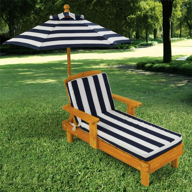 KidKraft Outdoor Chaise with Umbrella Brown Tan contemporary kids chairs