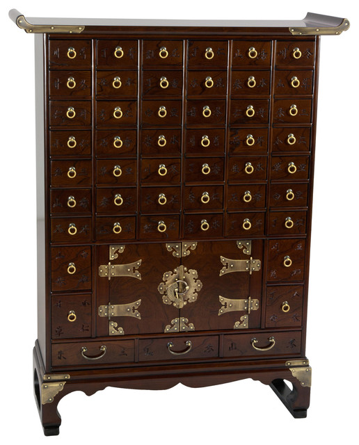 Korean Antique Style 49 Drawer Apothecary Chest Asian