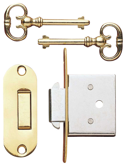 Office Desk Brass Desk Lock With Key - Transitional - Desks And Hutches - by The Renovator's ...