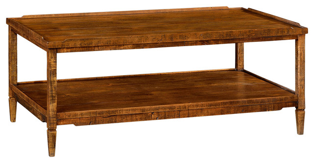 Country Style Coffee Table 491021 CFW Transitional Coffee Tables