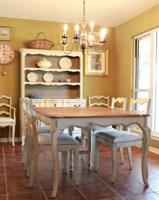 Vintage French Country Dining Dining Tables Austin
