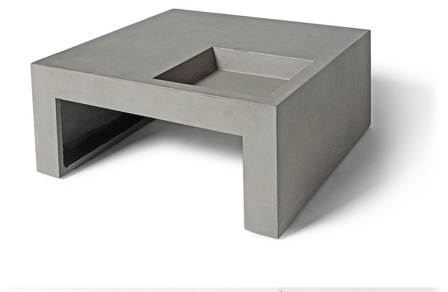 Table basse carr e b ton design v g tal green concrete coffee table - Table basse design carree ...