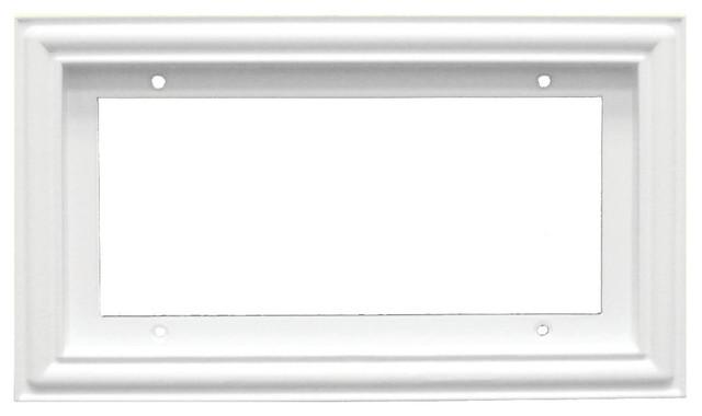 Standard House Frame Ceramic Tile White 4 Number