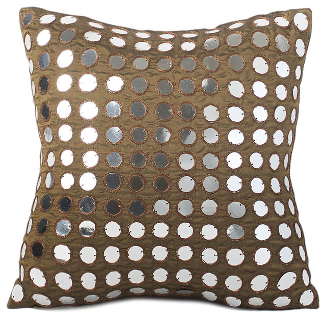 Decorative Down Pillows : Empire Sequined Feather & Down Pillow - Transitional - Decorative Pillows - by Chauran