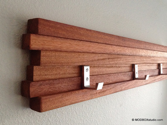 Coat Rack Five Hook Modern Key Hat Minimalist Wall Hanging ...