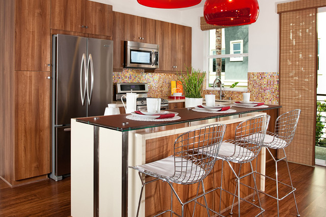 Frameless Cabinetry: Contemporary Spaces - Contemporary - Kitchen - Los Angeles - by RSI ...