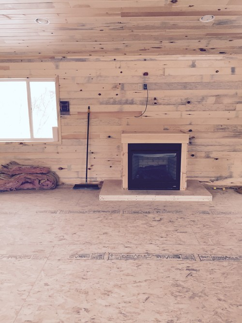 New Pine Walls With A Lot Of Grey