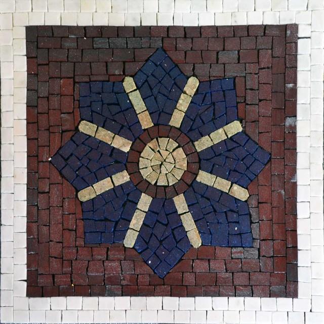 decorative wall tile mosaic nina m diterran en carrelage mosa que par mozaicoart. Black Bedroom Furniture Sets. Home Design Ideas