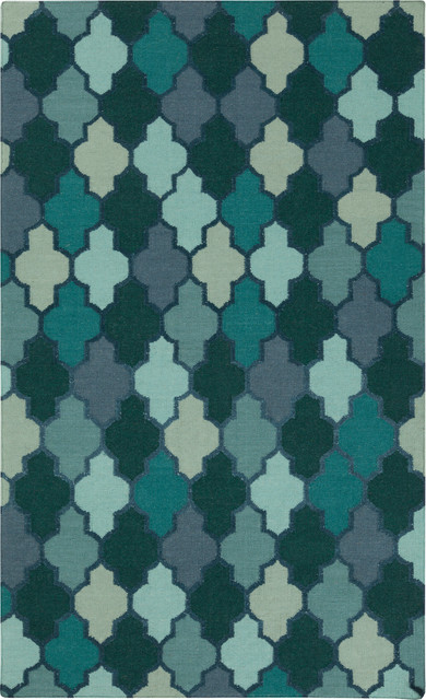 Surya nia nia 7000 teal navy rug contemporary area for Navy and teal rug