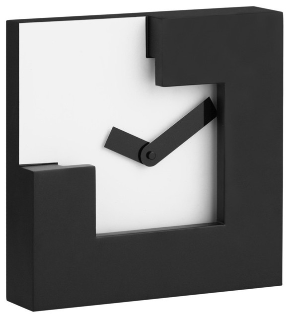 ... Zuo Modern Chira Table Clock In Black White Set Of 5 ...